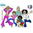 Monica Iozzi postou foto da animação de sua personagem e de Claudia Raia, Conrado Caputo, Débora Nascimento e JP Rufino: 'Samanta, Pepito, Sueli, Azeitona e Cidinha!!! Como não amar?'