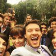 'Último dia de gravação! Chega a dar um aperto no peito... Melhor elenco de todos os tempos!', escreveu Nando Rodrigues