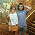 Os dois conferiram juntos o show da colega de elenco Maria Luiza