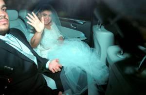 Vestida de noiva, Preta Gil deixa hotel e segue para casamento com Rodrigo Godoy