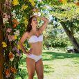 Priscila Fantin posou só de lingerie no Parque Ecológico Engenhoca, em Aquiráz, no Ceará, para a nova coleção da grife de roupas íntimas Liebe