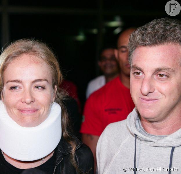 Luciano Huck e Angélica deixam hospital após acidente de avião. Casal foi liberado pelo hospital Albert Einstein na noite desta segunda-feira, 25 de maio de 2015