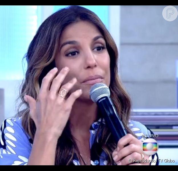 Ivete Sangalo afirmou que chorou ao assistir entrevista de Angélica e Luciano Huck ao 'Jornal Nacional', durante participação no 'Encontro com Fátima Bernardes' desta terça-feira, 26 de maio de 2015