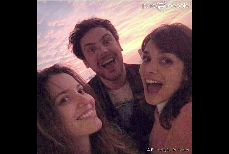 Nathalia Dill e Sergio Guizé viajam para o Chile