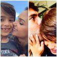 Carol Celico e Kaká parabenizam o filho Luca pelo aniversário de 7 anos nessa quarta-feira, 10 de junho de 2015