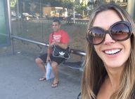 Vitor Belfort e Joana Prado pegam ônibus para trabalhar e afirmam: 'Não é fácil'
