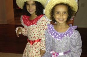 Ronaldo publica foto das filhas antes de ir para festa junina: 'Estamos prontas'
