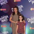 Fernanda Lima leva os filhos à pré-estreia do filme 'Divertida Mente', no Rio, neste domingo, 14 de junho de 2015