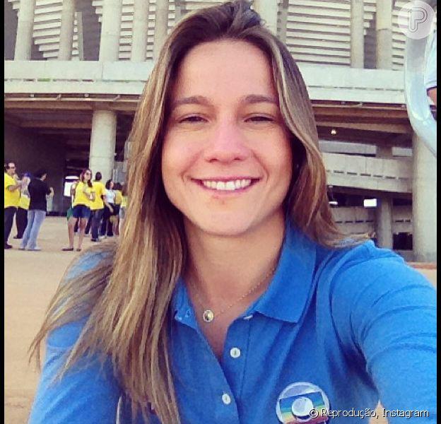 Fernanda Gentil tem chamado a atenção pela beleza e simpatia na cobertura da TV Globo na Copa das Confederações 2013