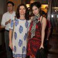 Débora Bloch curtiu a noite de sábado, 29 de junho de 2013, com a filha,  Julia Anquier, que está de férias no Brasil do curso de cinema que faz em Nova York