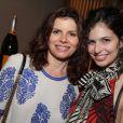 Débora Bloch e a filha,  Julia Anquier, prestigiaram o show de Baby do Brasil na Zona Sul do Rio de Janeiro