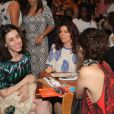 Débora Bloch a filha,  Julia Anquier, e Fernanda Torres sentaram juntas no showde Baby do Brasil na Zona Sul do Rio de Janeiro