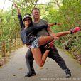 Adriano Garib vai voltar a ensaiar com Aline Riscado quando retornar ao Brasil