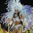 Nicole Bahls desfilou pela Beija-Flor no Carnaval de 2012