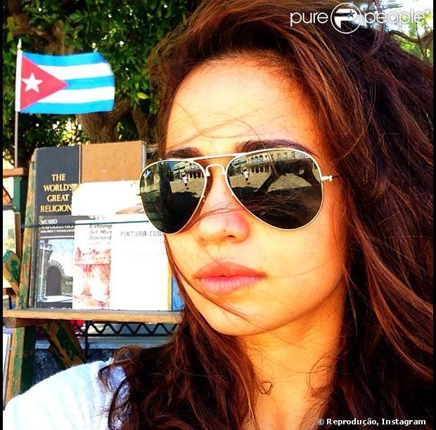 Nanda Costa publica foto em Cuba, onde fez o ensaio para ' Playboy
