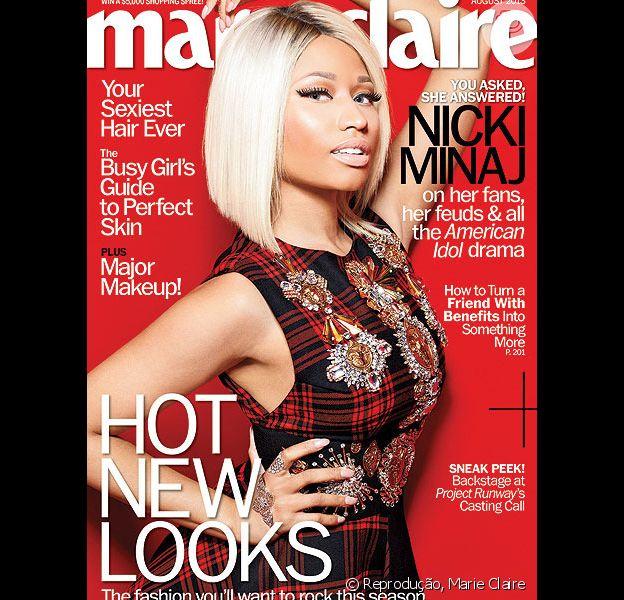 Nicki Minaj posa para a capa da revista 'Marie Claire' norte-americana e fala sobre vontade de ter um filho e homens, na edição de julho de 2013