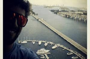 Rafael Cardoso posta foto durante passeio em Miami, nos Estados Unidos