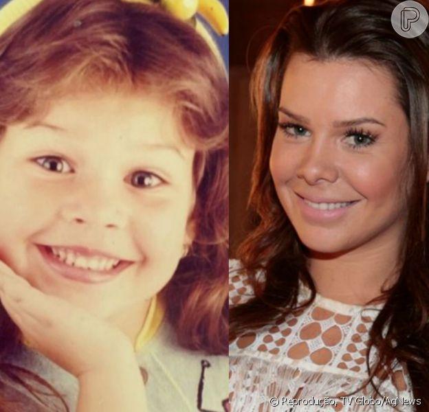 Fernanda Souza começou na carreira com 5 anos de idade, fazendo comerciais. Atualmente, a atriz vive a figurante Mel da novela 'A Regra do Jogo'