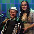 Dominguinhos e sua filha, Liv Moraes, em junho de 2010