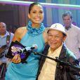 Dominguinhos e Camila Pitanga na gravação de um episódio do programa 'Som Brasil', em junho de 2010