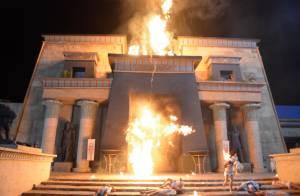 Chuva de granizo e fogo são a sétima praga da novela 'Os Dez Mandamentos'