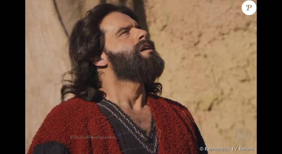 Guilherme Winter é Moisés, o protagonista de 'Os Dez Mandamentos'