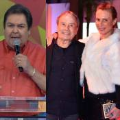 Faustão apoia Stênio Garcia e a mulher após fotos nus: 'Estão em forma ainda'