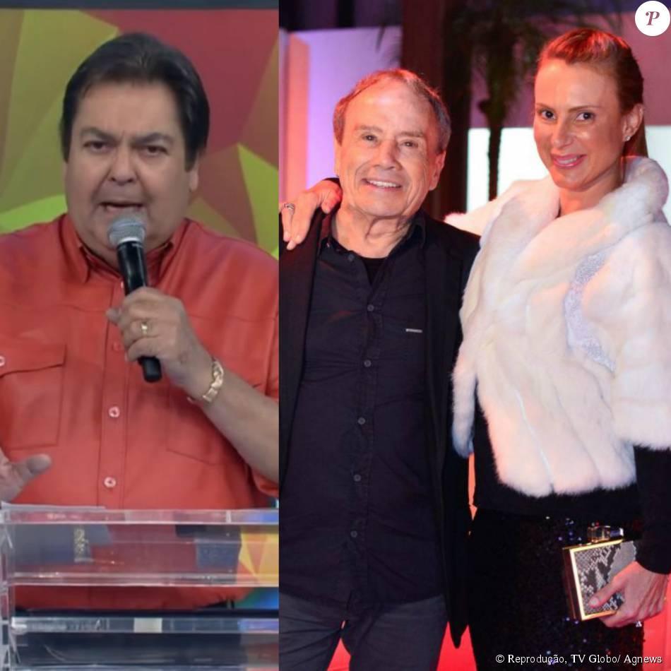 Faustão apoia Stênio Garcia e a mulher após fotos nus: 'Estão em forma ainda', neste domingo, 4 de outubro de 2015