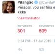 Camila Pitanga é uma das mais animadas nas redes sociais