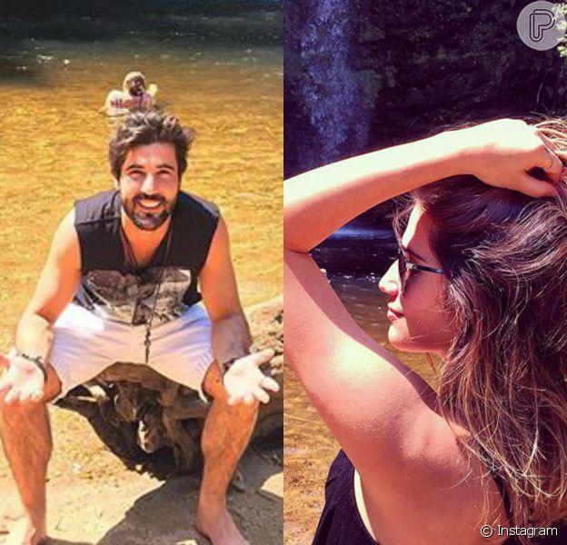 Sandro Pedroso e Jéssica Costa viajaram juntos para Pirinópolis, Goiás, para curtir alguns dias de folga longe da polêmica de seu relacionamento