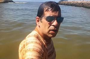 Mais magro, Leandro Hassum posta foto na praia e divide opiniões:'Está estranho'