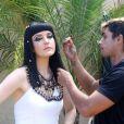 A atriz Larissa Maciel está no ar na minissérie 'José do Egito'