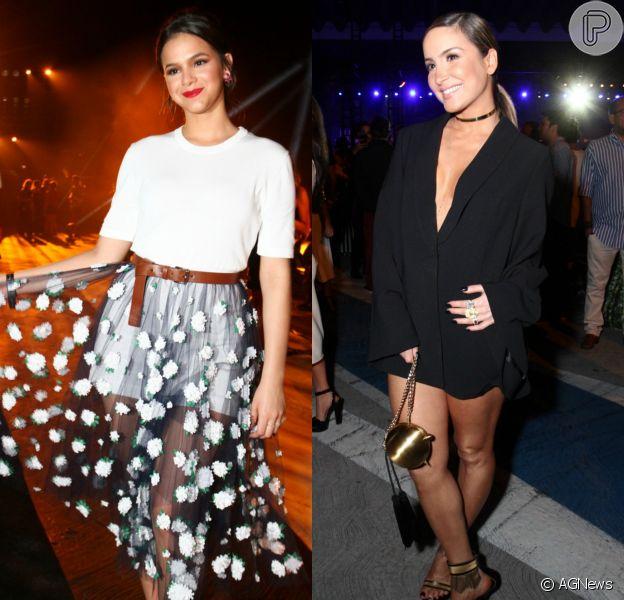 Bruna Marquezine e Claudia Leitte chamaram atenção com looks arrasadores na 4ª edição do Elle Fashion Preview na madrugada desta quinta-feira, 15 de outubro de 2015