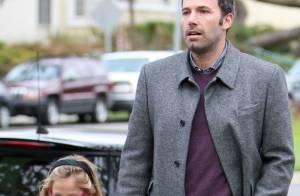 Ben Affleck leva a filha mais velha, Violet, à escola em Los Angeles, nos EUA