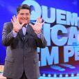 José Luiz Datena também já apresentou na Band o game show 'Quem Fica em Pé?'