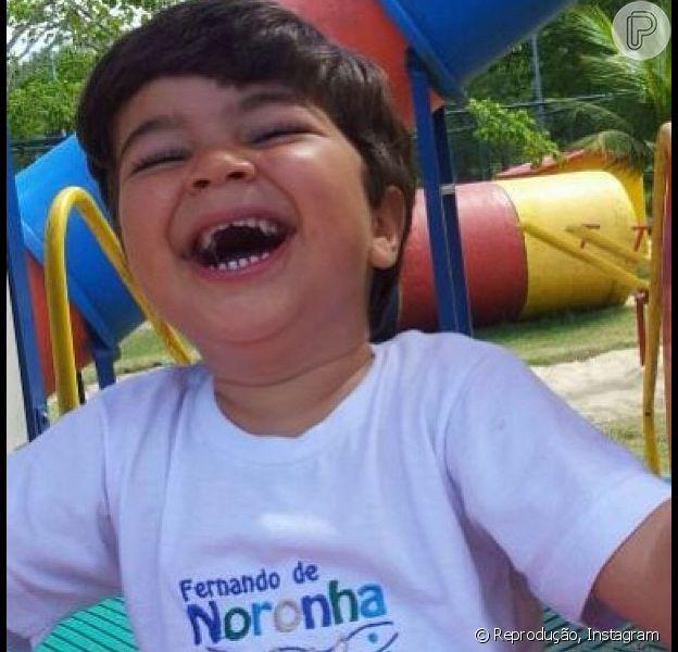 Juliana Paes compartilhou a foto do filho mais velho gargalhando em seu Instagram, nesta terça-feira, 20 de agosto de 2013