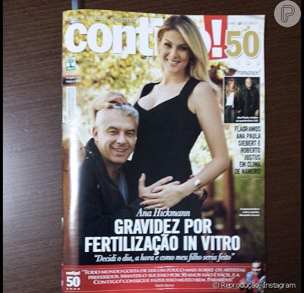 Ana Hickmann e Alexandre Correa estão na capa da revista 'Contigo!' desta semana e revelam que a concepção do primeiro filho foi por fertilização in vitro