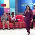Regina Casé sobre pijama utilizado no 'Encontro com Fátima Bernardes': 'É uma moda e tendência', disse