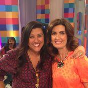 Regina Casé vai de pijama ao 'Encontro com Fátima Bernardes': 'É Prada'