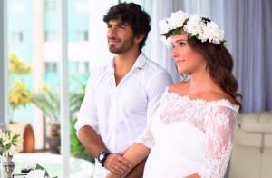 Deborah Secco aparece vestida de noiva em 1ª foto de casamento com Hugo Moura