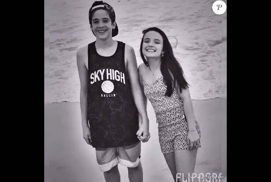 Larissa Manuela e João Guilherme assumiram o namoro após o aniversário de 15 anos da menina