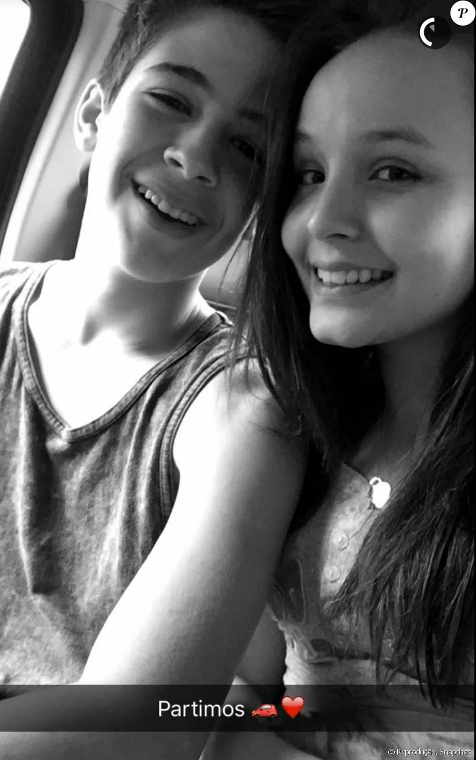 Larissa Manuela e João Guilherme viajarão juntos no Réveillon: eles postaram os preparativos da viagem nesta quarta-feira, dia 30 de dezembro, no Snapchat