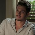Roberto (Rômulo Estrela) é convencido por Melissa (Paolla Oliveira) a realizar o teste de DNA de Alex (Kadu Schons)