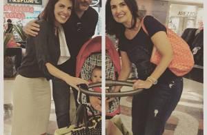 Fátima Bernardes usa bolsa de R$ 6 mil em passeio no shopping com William Bonner