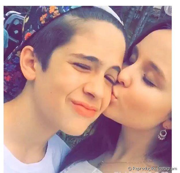 Larissa Manoela e João Guilherme passaram a tarde juntos e dividiram momentos no Snapchat com os fãs nesta quarta-feira, 6 de janeiro de 2016