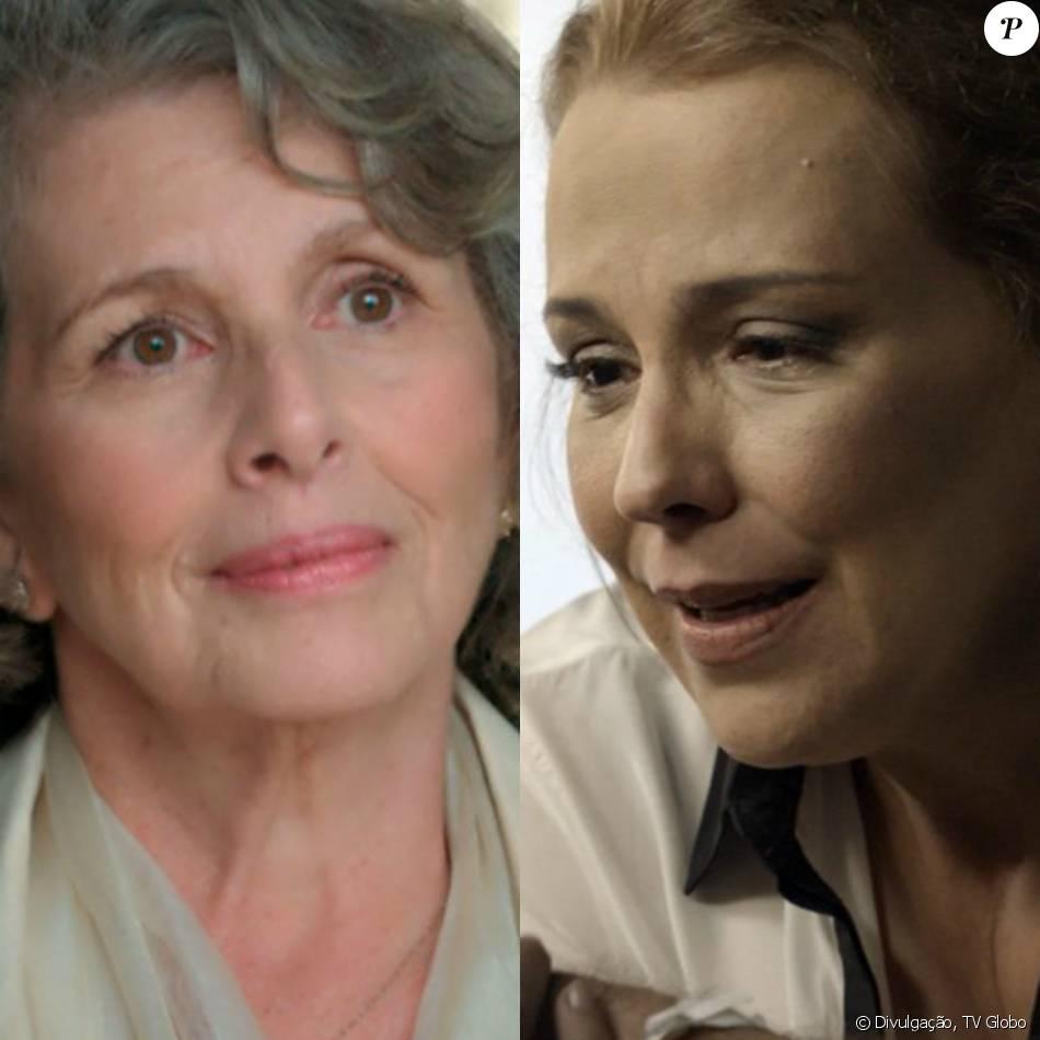 90acf8f527595 Emília (Ana Beatriz Nogueira) faz as pazes com Vitória (Irene Ravache), na  novela  Além do Tempo