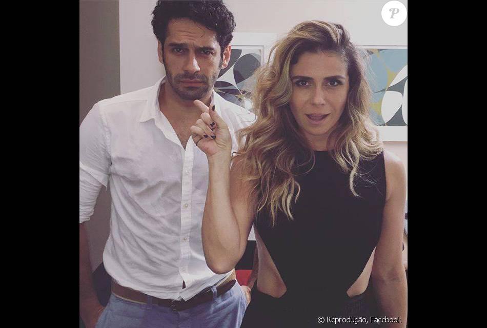 Giovanna Antonelli volta a contracenar com João Baldasserini e posta foto dos bastidores de gravação da novela 'A Regra do Jogo', em 11 de janeiro de 2016