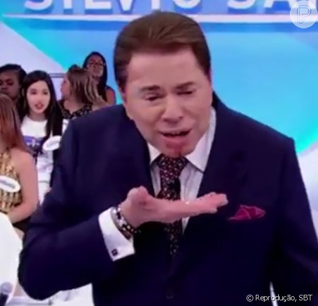 Silvio Santos se acidentou durante seu programa no último domingo, 10 de janeiro de 2016