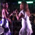 Cantora de apenas 20 anos cantou duas músicas da banda no trio de Ivete Sangalo