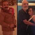Duda Litte recriou uma imagem antiga com seu pai. A primeira quando ela era bebê e outra em 2015, grávida